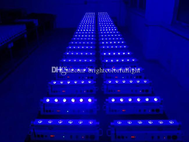 2015 RGBWAP 6 IN 1 New wireless dmx wedding led uplighting /Indoor led wall washer/Led battery powered led bar light