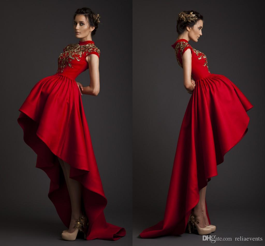 Discount high low red wedding dresses a line krikor jabotian see larger image ombrellifo Image collections