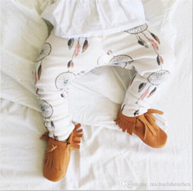 6 Conception enfants INS pantalon pp mode bébé enfant en bas âge garçon fille raton laveur panda tente roues géométrique figure pantalon pantalon Leggings B001