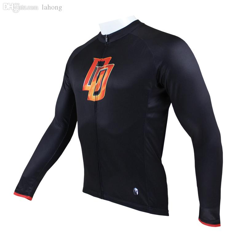 Wholesale-New Mens Long Sleeves Cycling Jersey Quick Dry Breathable Clothing For Daredevil Paladin Sport