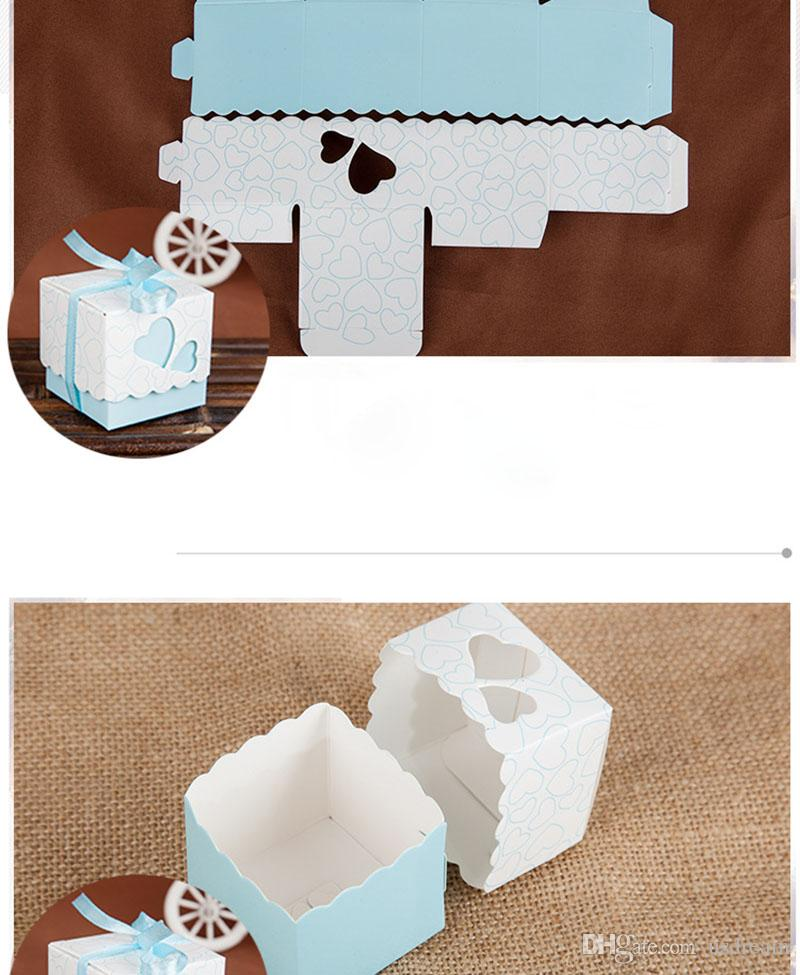 in vendita Scatola di caramelle a forma di cuore Bomboniera a forma di cuore Scatole di imballaggio Scatole regalo di pizzo quadrato il compleanno Articoli natalizi 240151