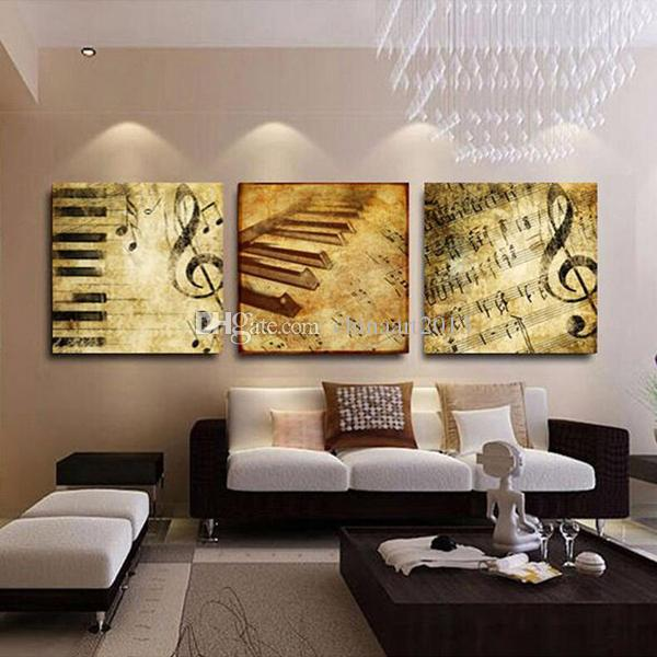 Retro Music Notes Painting Modern HD Printed Painting on Canvas Home Wall Art Decoration Gift 16x20incx3P