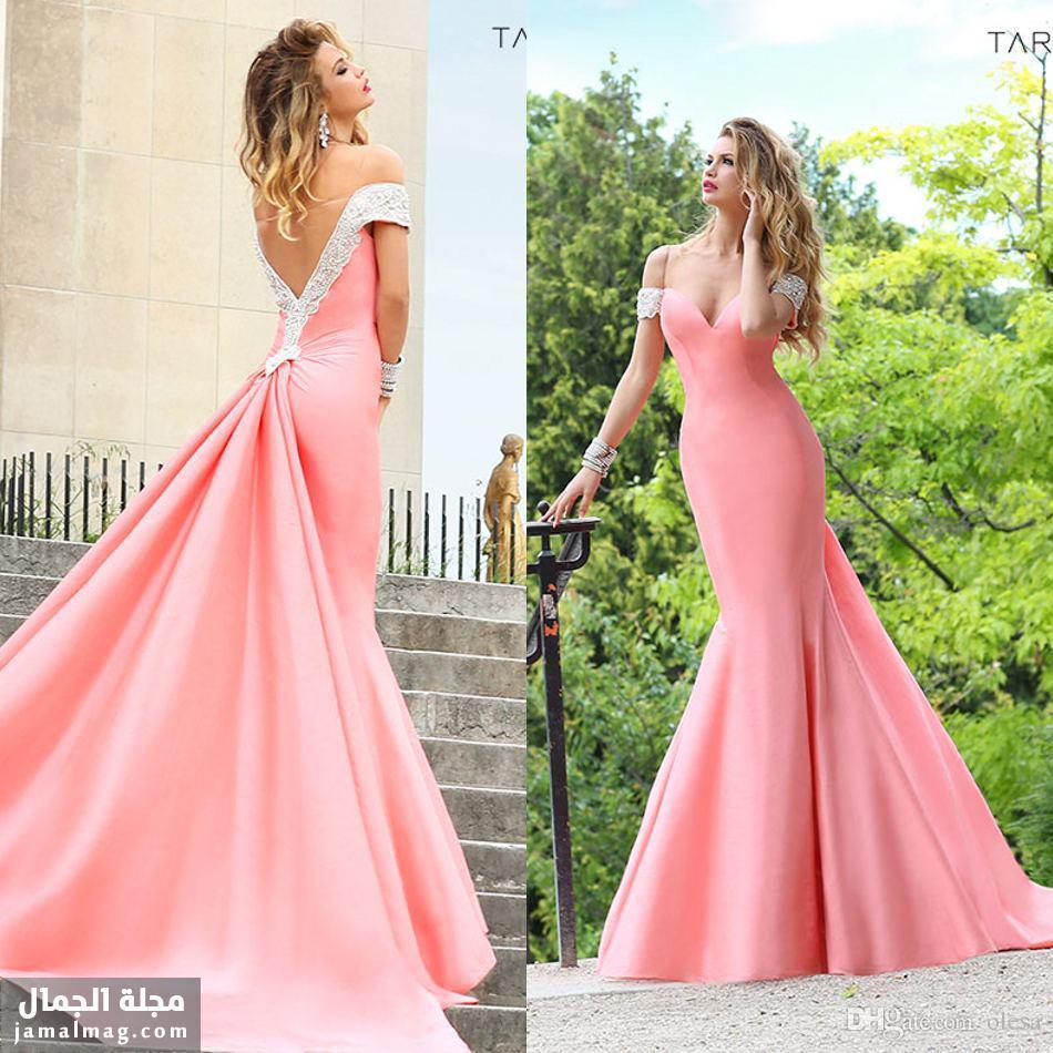 Compre Alta Calidad Tarik Ediz Rosa Sirena Vestidos De Baile Sexy ...
