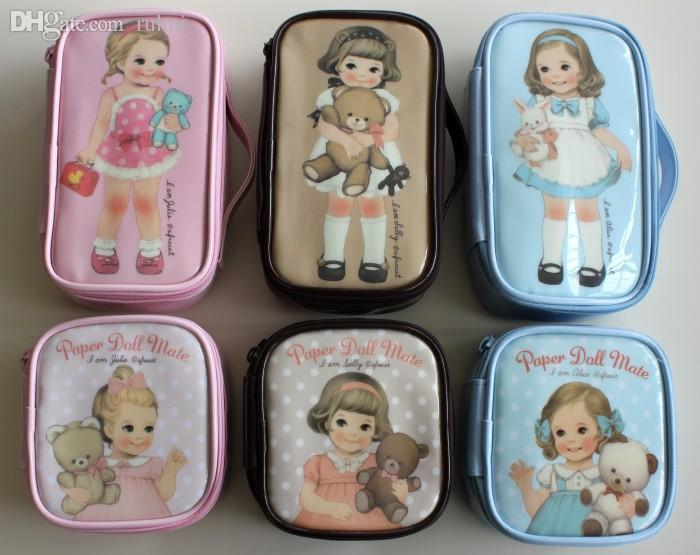 Wholesale Girl Small Bag Afrocat Doll Paper Doll Mate Waterproof Cosmetic  Bag Storage Gilr Cases Hand Bags Makeup Bags From Ruhui, $21.3| Dhgate.Com