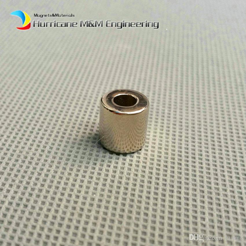 1 Confezione NdFeB anello OD 10x4x10 mm Diametro 0,39 '' round forti magneti assialmente magnetizzato NiCuNi rivestito magneti in terre rare