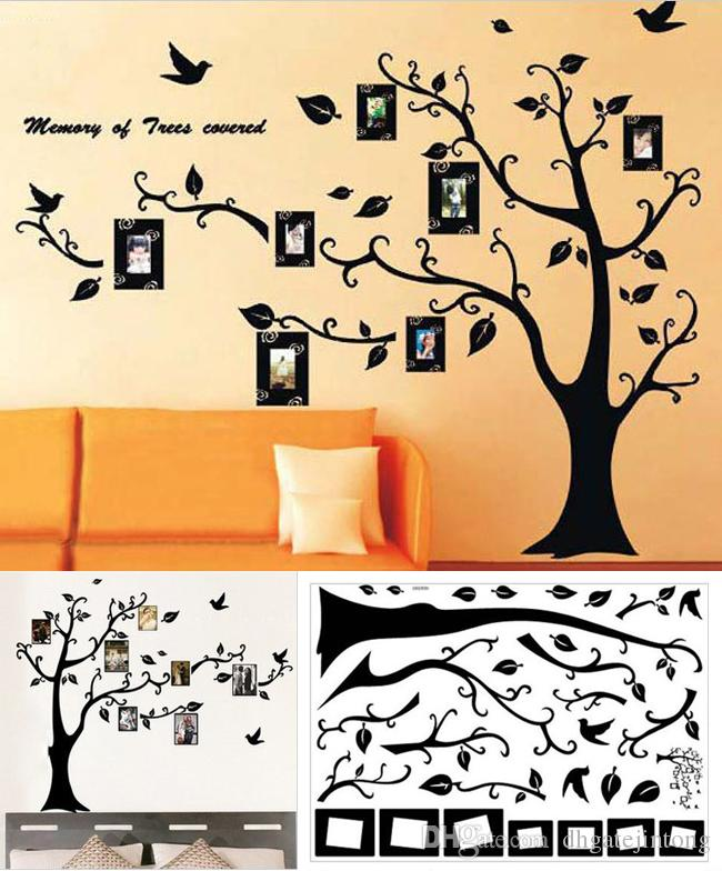 ... Removable Room Decor Family Photo Frame Black Tree Wall Sticker Wall  Decal ...