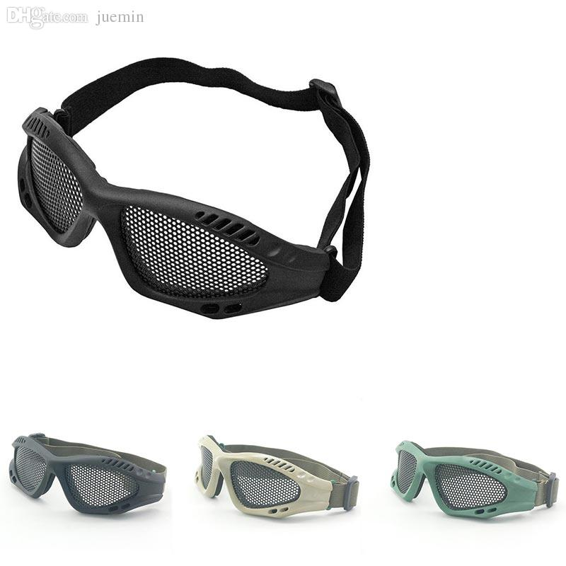 db12e0bb8c9 Wholesale Brand New Wargame Tactical Goggles Outdoor Sport Eye Protective  With Metal Mesh CS Game Glasses Prescription Glasses Online Round Glasses  From ...