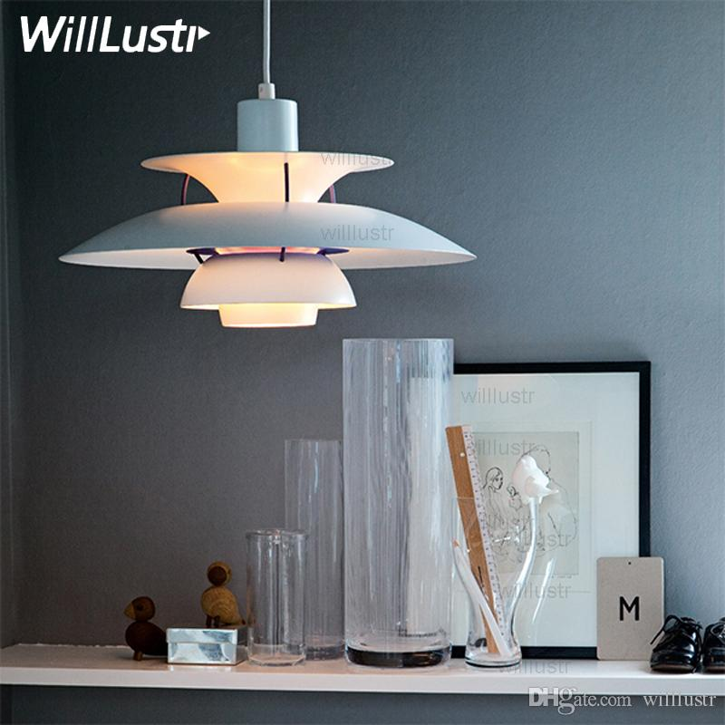 Minimalist Ph 5 Pendant Lamp Metal Replica Louis Poulsen Ph5 Poul Henningsen Modern Design Classic Pendant Light Suspension Lighting Pendant Lights Over Island Track For Your House - Unique small lantern pendant light Photo