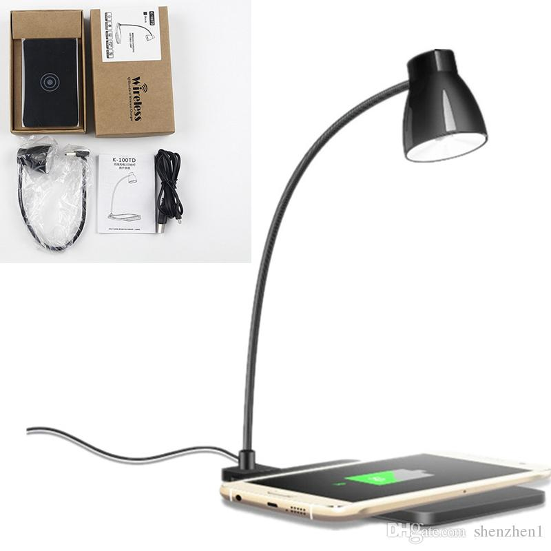Led Desk Lamp With Phone Wireless Charger Table Lamp 360 Degree Rotating  Lamp Support Wireless Charging For Iphone Samsung Dhl Oth727 Power Bank  With Light ...