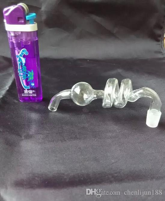 Wholesale Glass Hookah Accessories, bong parts, 2 curved spiral running board, large better