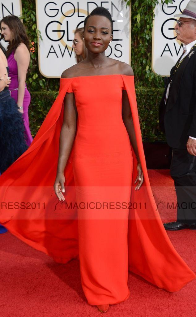 2015 Red Capet Celebrity Dress Golden Globe Award Lupita Prom ...