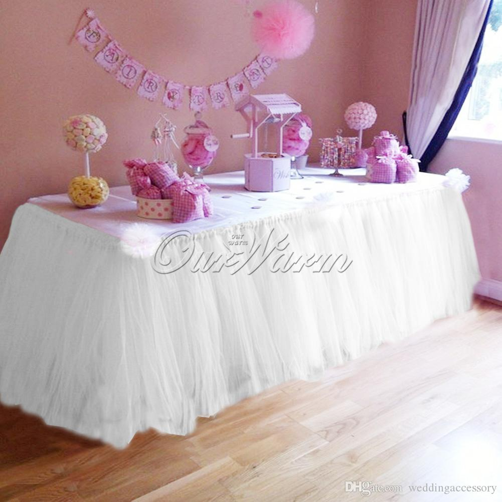Many Color TUTU Table Skirt Tulle Tableware for Wedding Decor ...