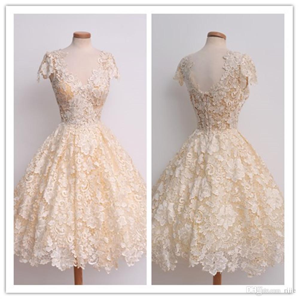 Großhandel Neue Partei Kleid Mode Sexy Blumen Honig Beige ...