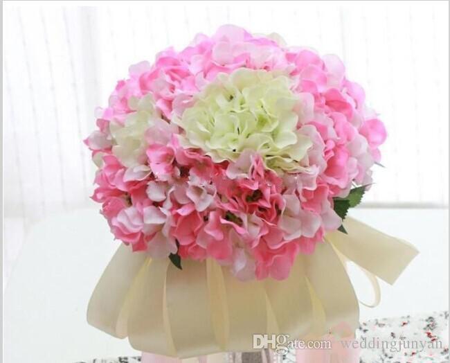 Stile europeo pastorale bianco fiore di seta artificiale bouquet di ortensie decorazioni matrimoni i