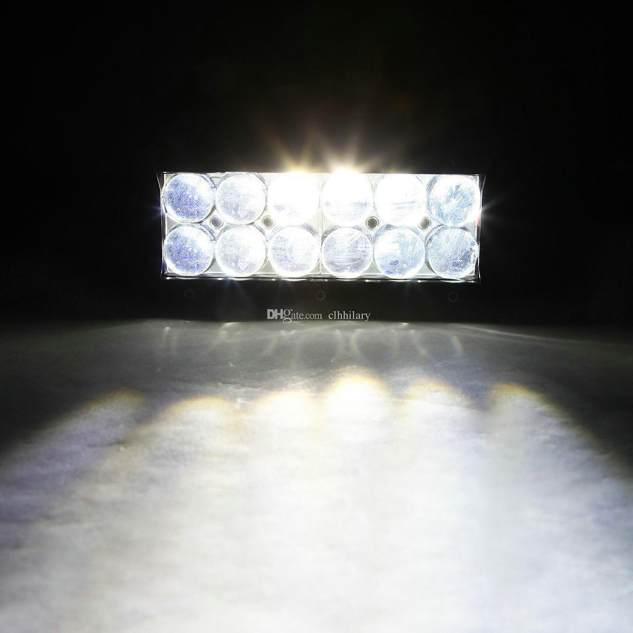 7 inch Osram 60W LED Work Light Bar 4D Spot Flood Beam Day Time Running Lamp Golf Offroad Driving Vehicle Boat 12V 24V