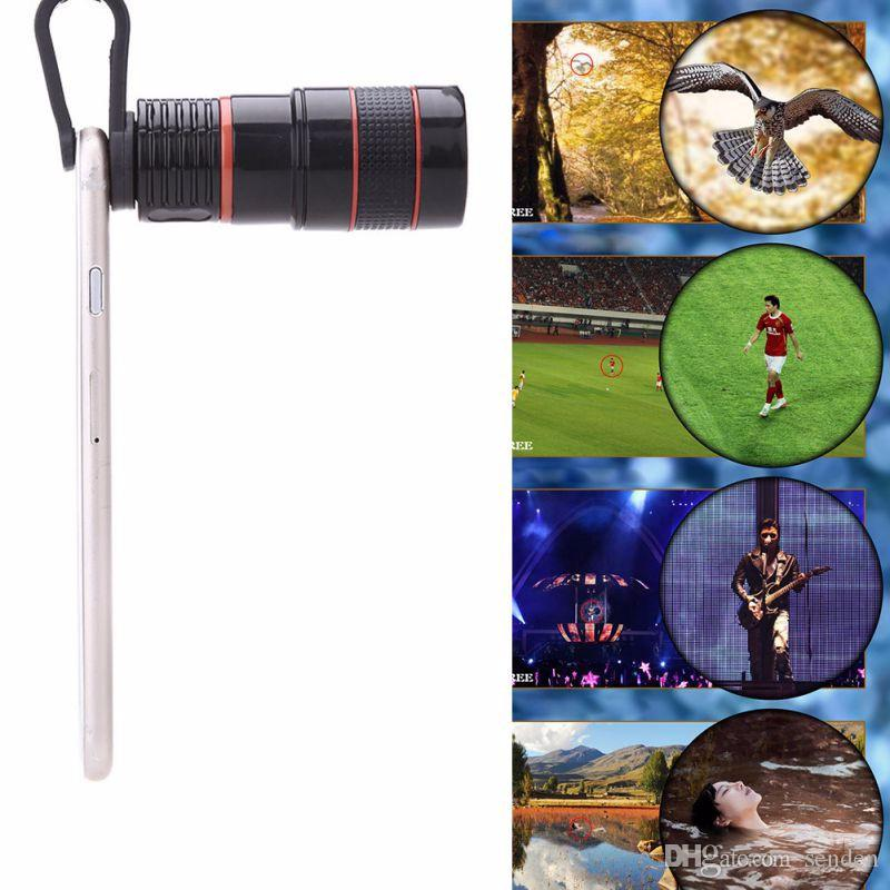 hot sale new Telescope Lens 8x Zoom unniversal Optical Camera Telephoto len with clip for Iphone Samsung HTC Sony LG mobile smart cell phone