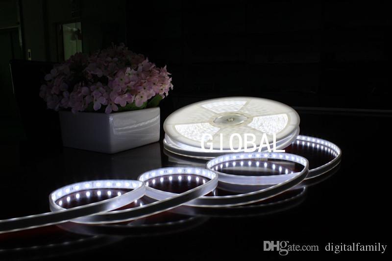 Continu 20 mètres 20M / rouleau RVB Blanc Chaud Rouge Lumière 5050 SMD LED Étanche IP67 Imperméable Avec Contrôleur Avec Ensemble Complet De Puissance