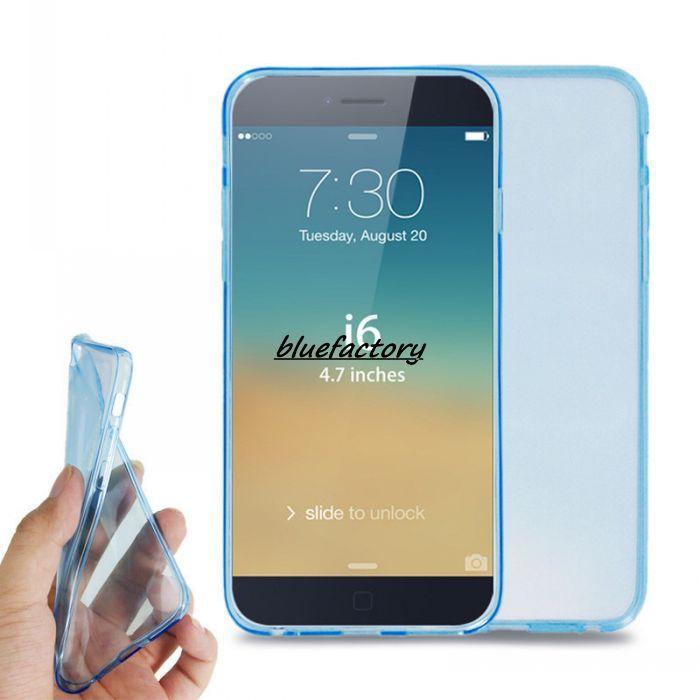 Slim Ulta Thin Back Skin Case 4.7 pulgadas para Apple 6 para Iphone 6G 0.35mm Mate Soft Clear Gel Crystal Shell para iPhone 6 Plus 5.5 ''
