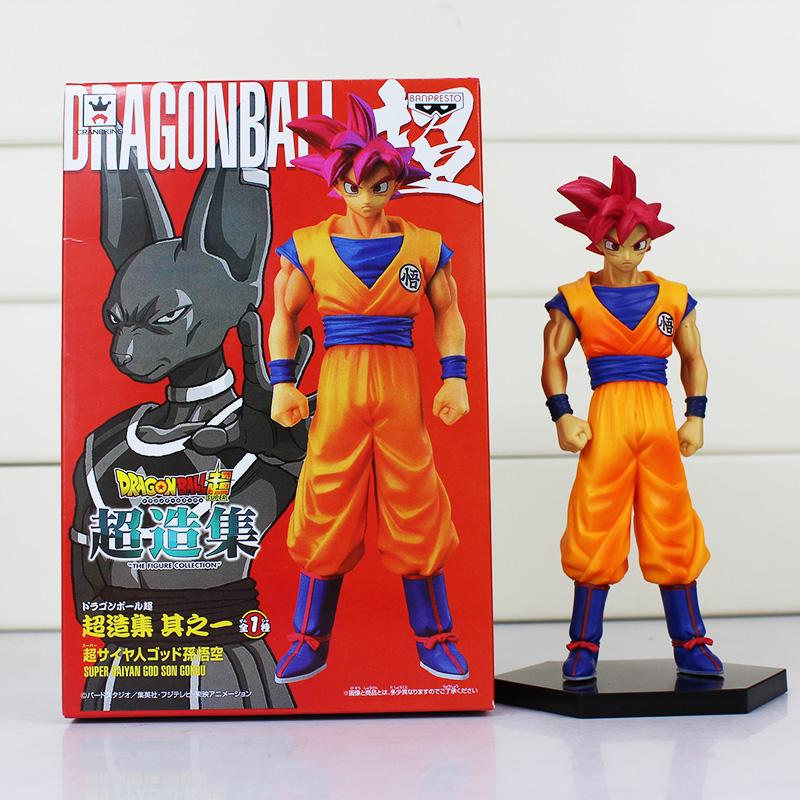 Anime Dragon Ball Son Gokou Figures Super Saiyan God Son Goku PVC Action Figure Toys Collectible Model Dolls 16cm
