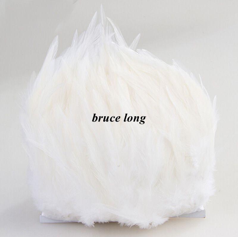 ホワイトオンドリ羽毛羽毛羽根鳩ジュエリークラフトDIYフェザーベルトスカーフウェディングパーティークリスマス装飾羽