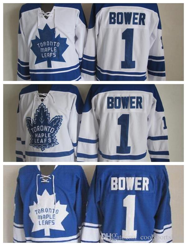 98188c178a8 ... france authentic fights cancer stitched nhl jersey 2018 2017 2018  toronto maple leafs throwback johnny bower