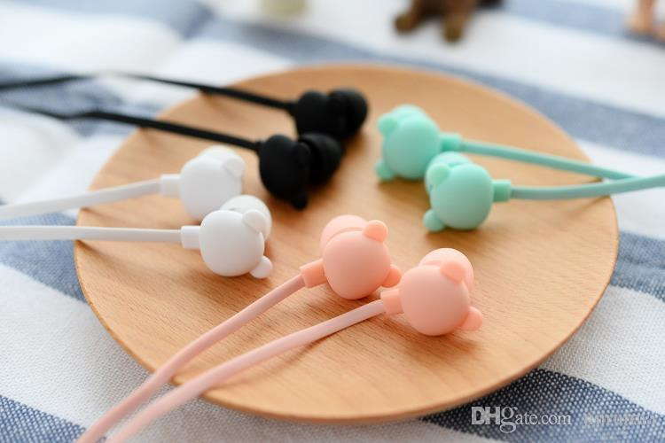 --2017 New Bear Cute Earphone in-ear Candy Color Girl Ear phones Earbuds Universal for Xiaomi Samsung Lenovo Nokia for Mp3 Gfit