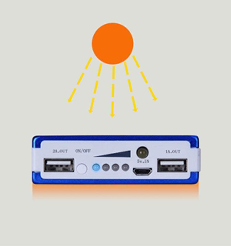Оптовой -Новый 20000 мАч Панельного солнечной батареи внешнего зарядного устройства Dual 20000mAh солнечных порты зарядка 5 цветов выбрать для