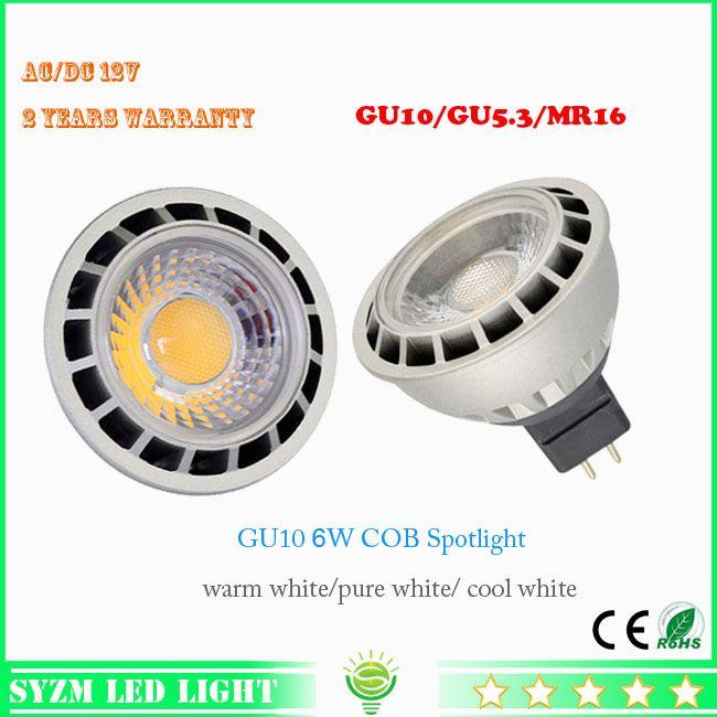 12volt led light bulb mr16 6watts led spotlight cob warm whitewhite shell color blacksilver new style from syzmled 403 dhgatecom