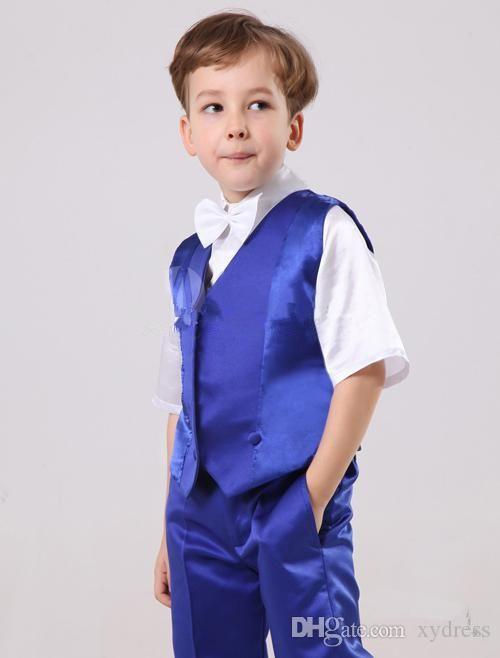Формальная одежда для мальчиков 2016 Красивый на заказ размер и цвет Детский свадебный костюм для мальчика Формальный для мальчиков куртка + брюки + галстук + жилет