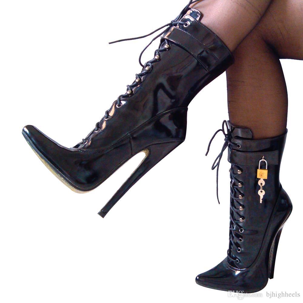 18cm haute bottes de sexe femmes bottes pointues top talons aiguilles bottines no.1810 1