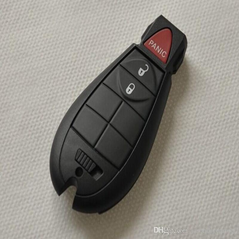 2+1 Buttons Remote Case Smart Key Shell For Chrysler Jeep Commander Grand Cherokee big logo position buckle bit Buttons