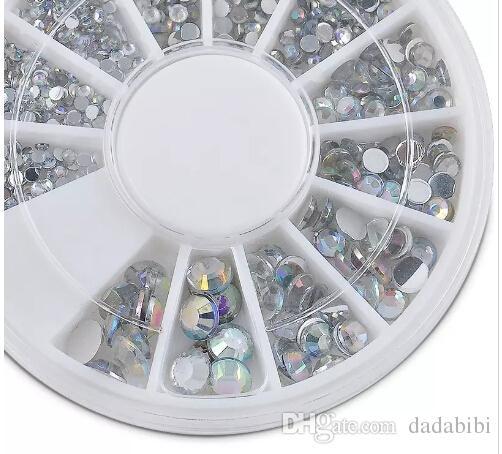 Nail Art украшения 3D Nail Art Стразы Кристалл Блеск ногтей колеса украшения для DIY Шпильки Бесплатная доставка