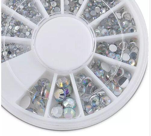 Nail di arte della decorazione 3D Art strass in cristallo di scintillio Nails rotella decorazioni fai da te Studs spedizione gratuita