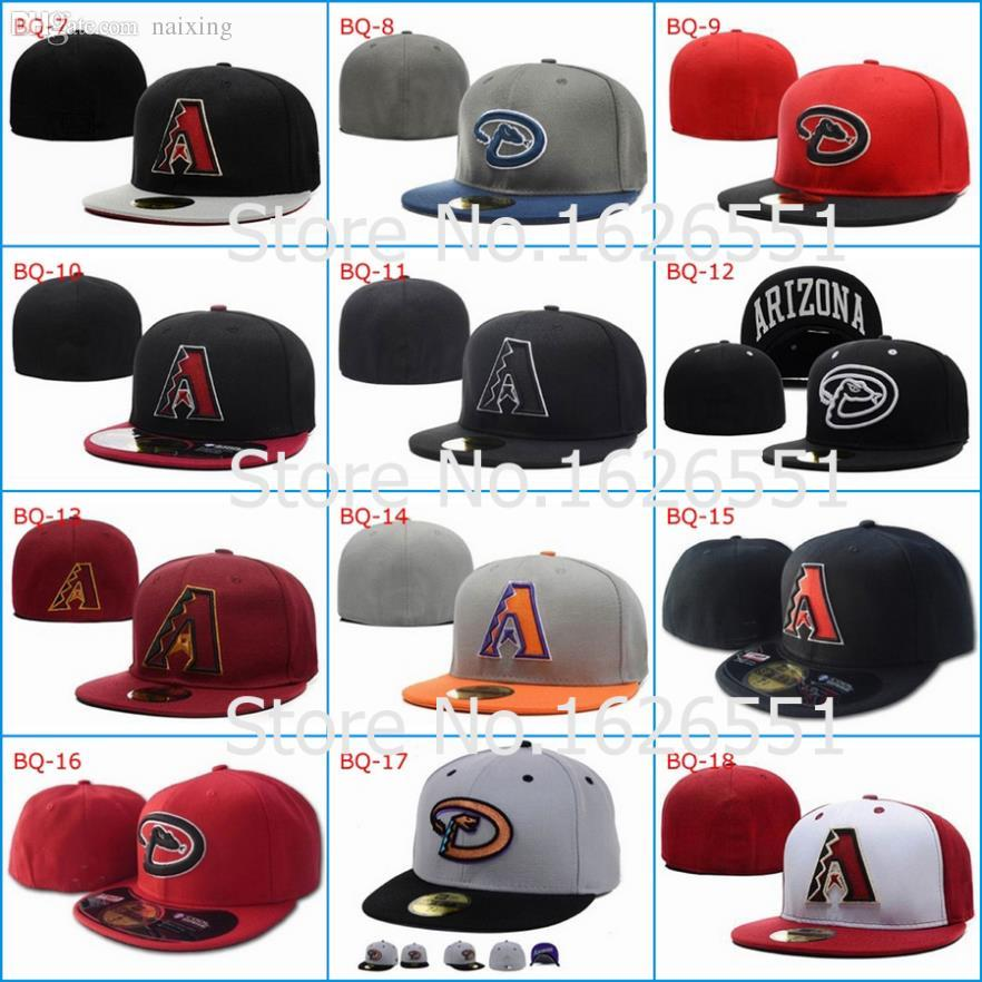 Wholesale-Men s Full Closed Arizona Diamondbacks Fitted Hat ... f27faa8a2f0