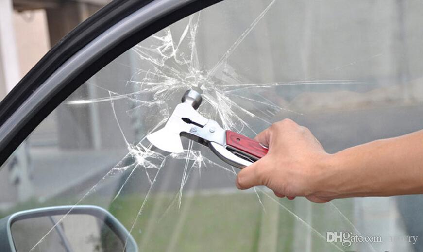 10個の多機能車の安全ハンマー車の命を救う車斧ハンマーの自動車用品ツール窓壊れた