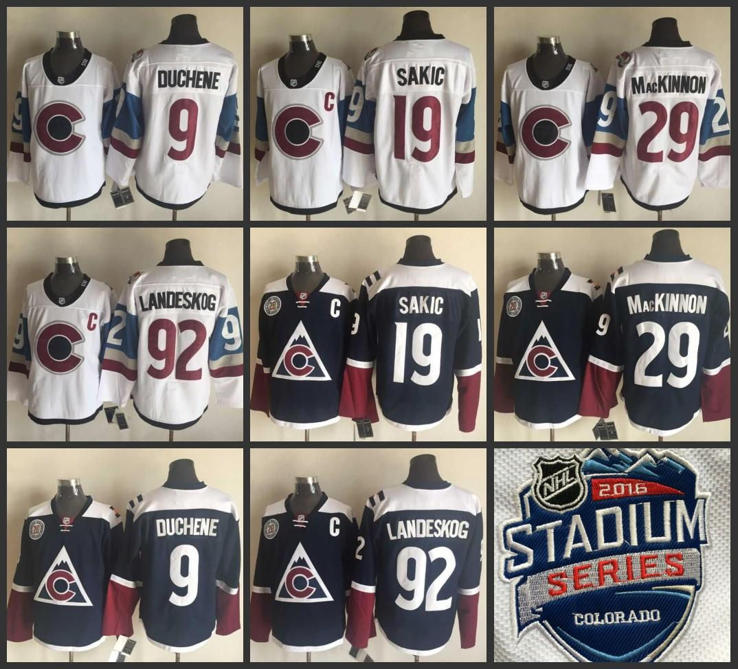 2019 Youth Men ado Avalanche Stadium Series Jersey 92 Gabriel Landeskog 29  Nathan MacKinnon 19 Joe Sakic 9 Matt Duchene Jerseys From B2bcn d623e006ce8