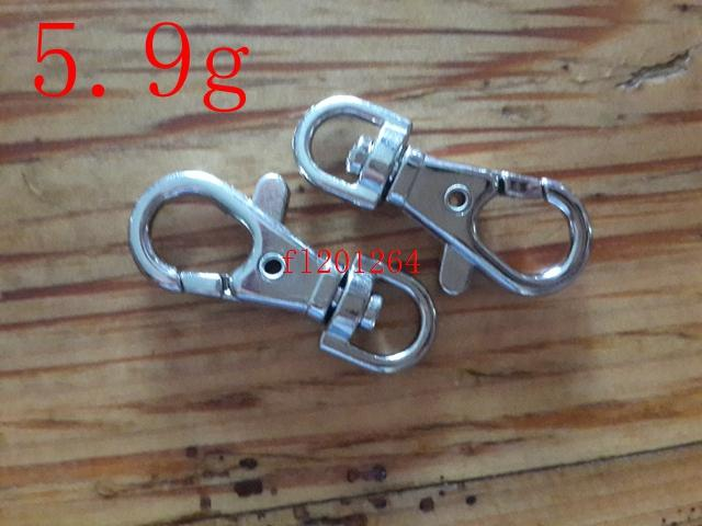 Envío gratis 5000 unids / lote 3.8 cm de alta calidad llavero langosta corchetes giratorio Trigger Clips Snap Hooks llavero llavero 5.9g