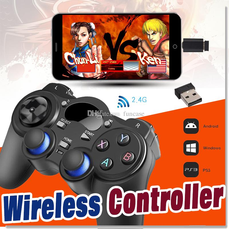 Universal 2 4G Wireless Game Controller Gamepad Joystick Mini keyboard  Remoter For Android TV Box Tablets PC Windows 8/7/XP With Package