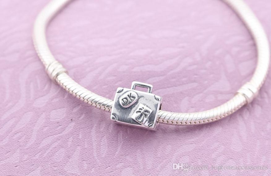 100% стерлингового серебра подвески 925 Эль ствол подвески для Pandora браслеты поездка DIY бусины аксессуары Бесплатная доставка