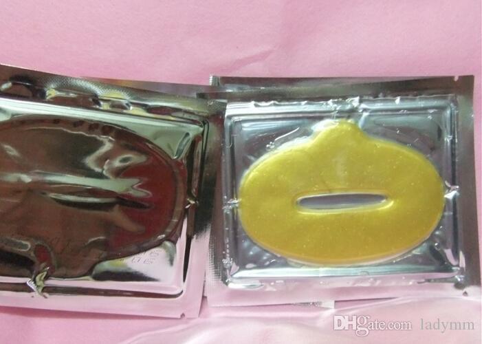 Pellicola d'idratazione del labbro di cristallo della proteina del collageno delle donne di oro la maschera di cristallo del labbro del collageno di cristallo DHL libera il trasporto