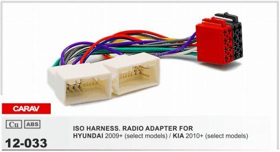 Carav 12 033 Iso Radio Adapter For Hyundai 2009+/ Kia 2010+ Wiring ...
