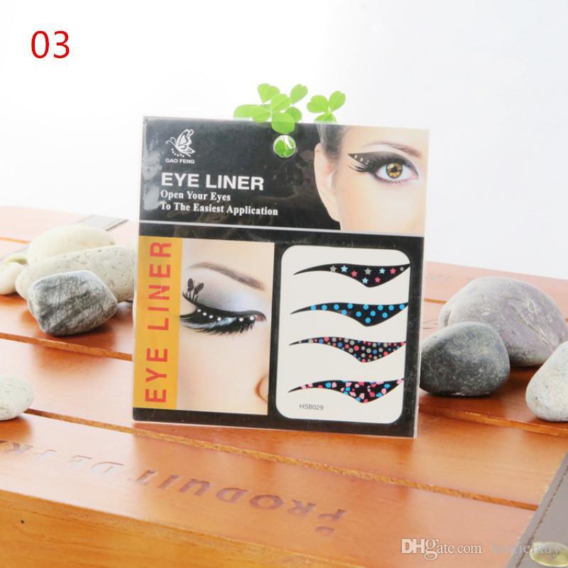 10 paquetes de moda Eye Liner tatuaje pegatinas aplicación no tóxico seguro Random Enviar