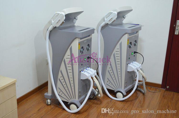 Neue Art 3in1 Elight IPL + RF + Laser-Schönheitsmaschine zur Haarentfernung Hautverjüngung Tätowierung Sommersprossen Entfernung Faltenbehandlung