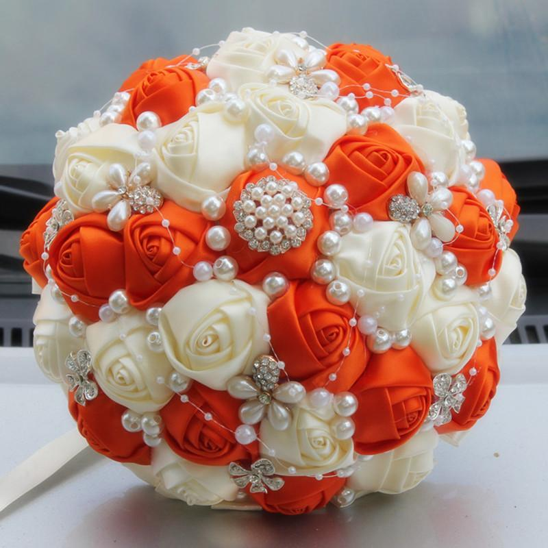 Ivory orange artificial wedding bouquets jewelry pearl brooch bouquet supplies marriage wedding holding flowers burgundy w251 1 ivory orange artificial wedding bouquets jewelry pearl brooch bouquet supplies marriage wedding holding flowers burgundy w251 1 Choice Image
