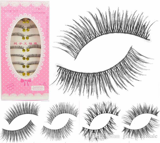 False Eyelashes Japanese 5 Different Styles for choices and 100%Hand Made to Product 10 Pairs per Set with Best Price