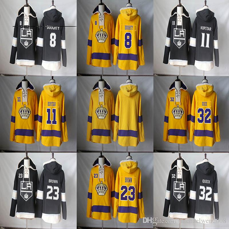 Los Angeles Kings Hoodie Blank 8 Drew Doughty 11 Anze Kopitar 23 Dustin Brown 32 Jonathan Quick Men Hoodies Sweatshirts