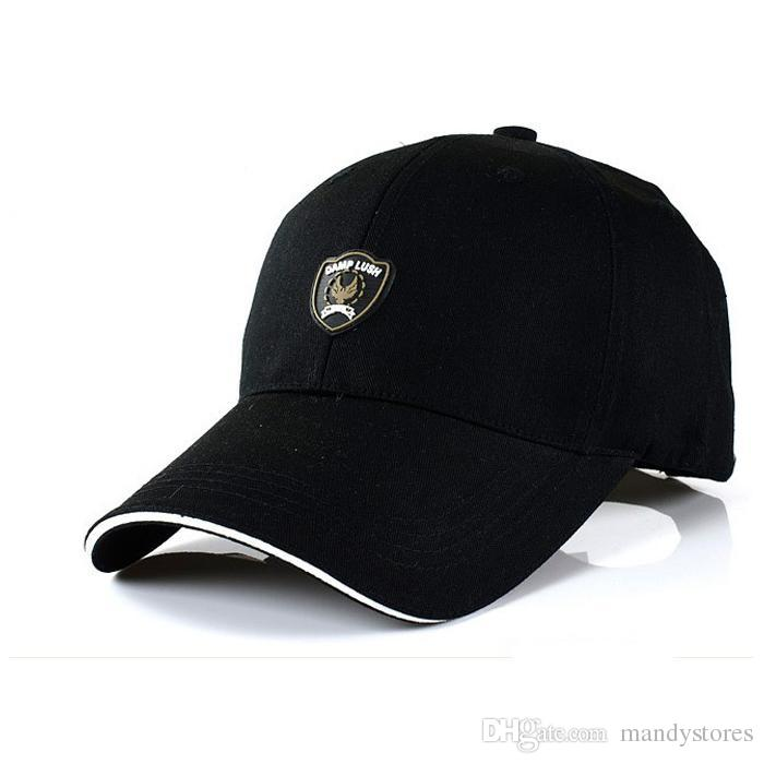 e617ad9f82d Wholesale- Men s Baseball Sun Caps Sports Brand Hat Wholesale Fashion Solid  Black White Snapback Popular Cotton  Polyester Hat Warm Polyester Tape Hat  with ...