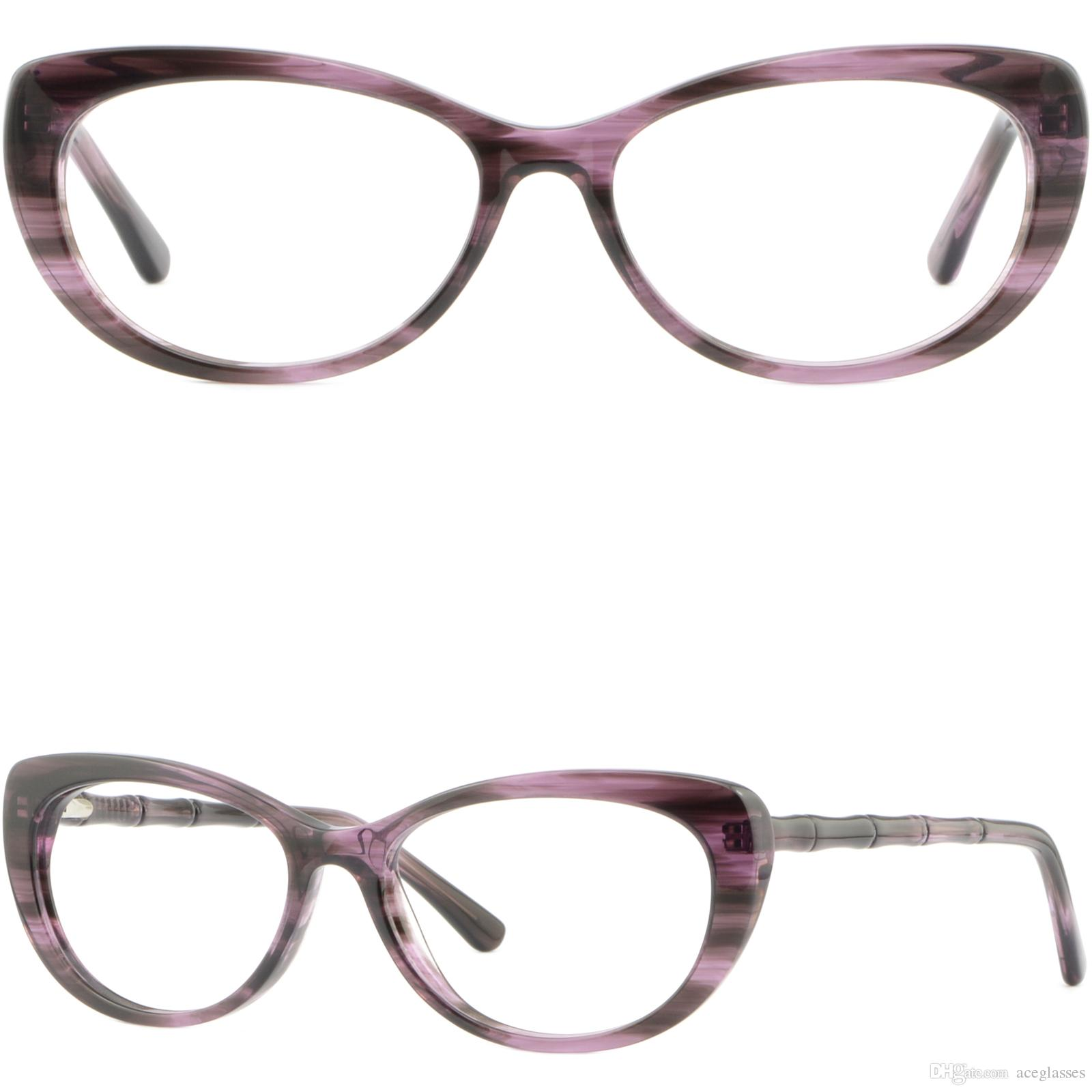 Cute Womens Cateye Plastic Frames Spring Hinges Rx Glasses ...