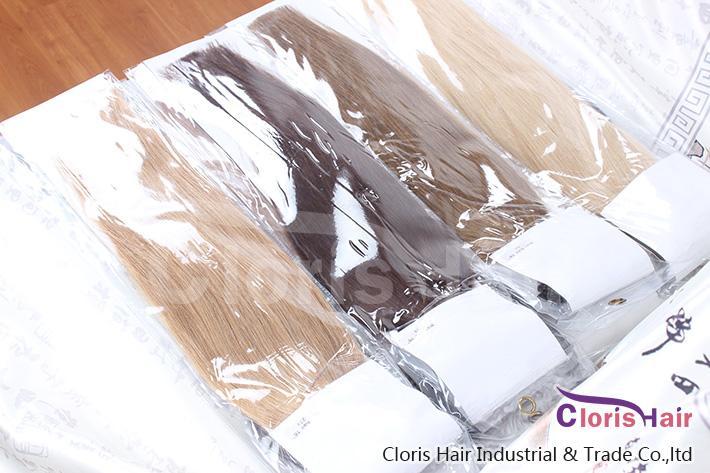 Outlet # 27 morango / mel loira 100strand fácil loop micro anéis cordão derrubado extensão humana cabelo europeu remy cabelo sedosa 0,5 g / s