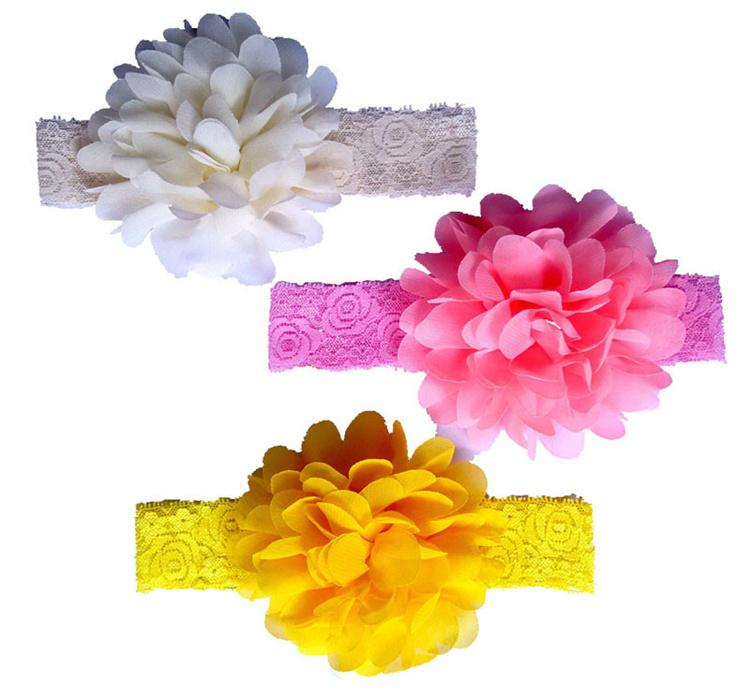 Little Girl Hair Accessories Cute Colors Designer Hair Accessories Chiffon Material with Flowers Kids Hair Accessories online CB003
